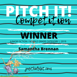 Samantha Brennan winner Pit It! middle grade fiction