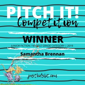 Samantha Brennan winner Pit It! middle grade fiction